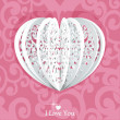 Pink Valentine card — Stock Vector