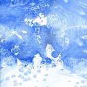 Blue paint monotypy — Stok Vektör
