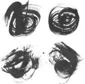 Circles drawn thick paints — Stock Vector
