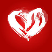 Valentine karty srdce — Stock vektor