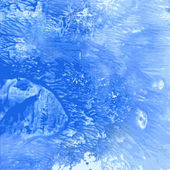 Abstract blue paint monotypy — Stockvektor
