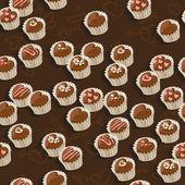 Dunkle Schokolade nahtlose Hintergrund — Stockvektor