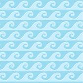 Seamless blue grunge pattern sea waves — Stock Vector
