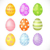 Set of colored Easter eggs — Stock Vector