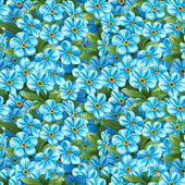 Seamless pattern of blue forget-me-not — Stock Vector