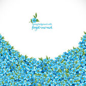 Spring background with forget-me-not — Stock Vector