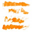 Vector wavy texture orange paint strokes drawn manually — Stock Vector