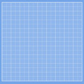 Graph blue paper with white cells — Stockvector