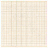 Graph paper white grunge with orange cells — Stock Vector