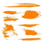 Orange texture dry brush strokes — Stock Vector
