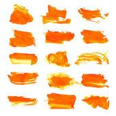 Orange texture dry brush strokes — Stock Vector