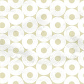 Seamless pattern of white circles on beige paper — Stock Vector