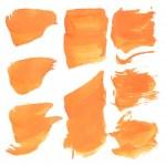 ������, ������: Smears orange paint