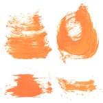������, ������: Orange paint smears