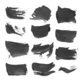černý čerstvě natřeno tahy — Stock vektor