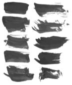 Black wet paint strokes — Stok Vektör