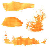 Smears orange paint — Stock Vector