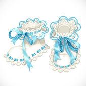 Blue booties for newborn — Stock Vector