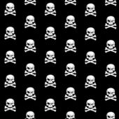 Grin Jolly Roger seamless background — Stock Vector