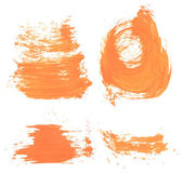 Orange paint smears — Stock Vector