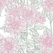 Seamless pattern chrysanthemum — Vecteur