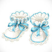Baby blue booties — Stock Vector