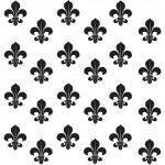 Fleur-de-lys seamless background — Stock Vector #48953319