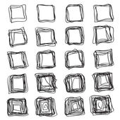 Set of abstract square brush strokes — Stockvector