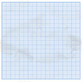 Crumpled graph paper with blue cells — Stock Vector