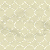 Seamless beige pattern from the ornamental lattice — Stock Vector