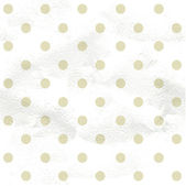 Vintage white pattern in beige polka dot — Stock Vector
