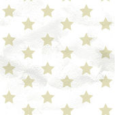 Seamless grungy vintage pattern from beige stars — Stock Vector