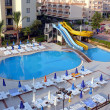 Alania, Turkey - September 02, 2008: Nobody swim in hotel pool on September 02, 2008 in Aydinbey hotel, Alania, Turkey — Stock Photo #15320835