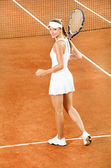 Woman tennis player — Stockfoto