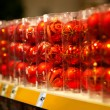 Stock Photo: Sale of red christmas baubles