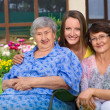 Three generation of women at countryside — Stock Photo