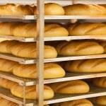 Wheat bread in supermarket — Stock Photo