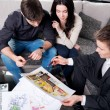 Couple is considering future apartment design — Stock Photo #28281221