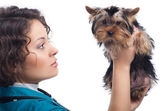 Woman veterinarian — Stock Photo