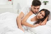 Conflict in bedroom — Stock Photo