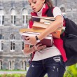 Girl student with books — Stock Photo #47026235