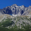 Gerlach Peak in Slovak High Tatras at summer - Stock Photo