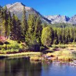 Strbske Pleso in Slovak High Tatras at summer — Foto de Stock
