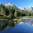 Strbske Pleso in Slovak High Tatras at summer - Stock Photo