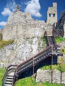 The Castle of Beckov - Interior with stairs — Stock Photo