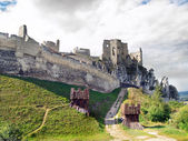 Massive fortification of The Castle of Beckov — Stock Photo