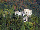 Likava Castle ruin hidden in forest — Stock Photo