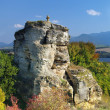 Stone cross monument near Besenova, Slovakia — Stock Photo