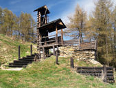 Wooden fortification on Havranok hill, Slovakia — Stock Photo