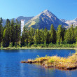 Strbske Pleso and Solisko Peak in High Tatras - Stock Photo